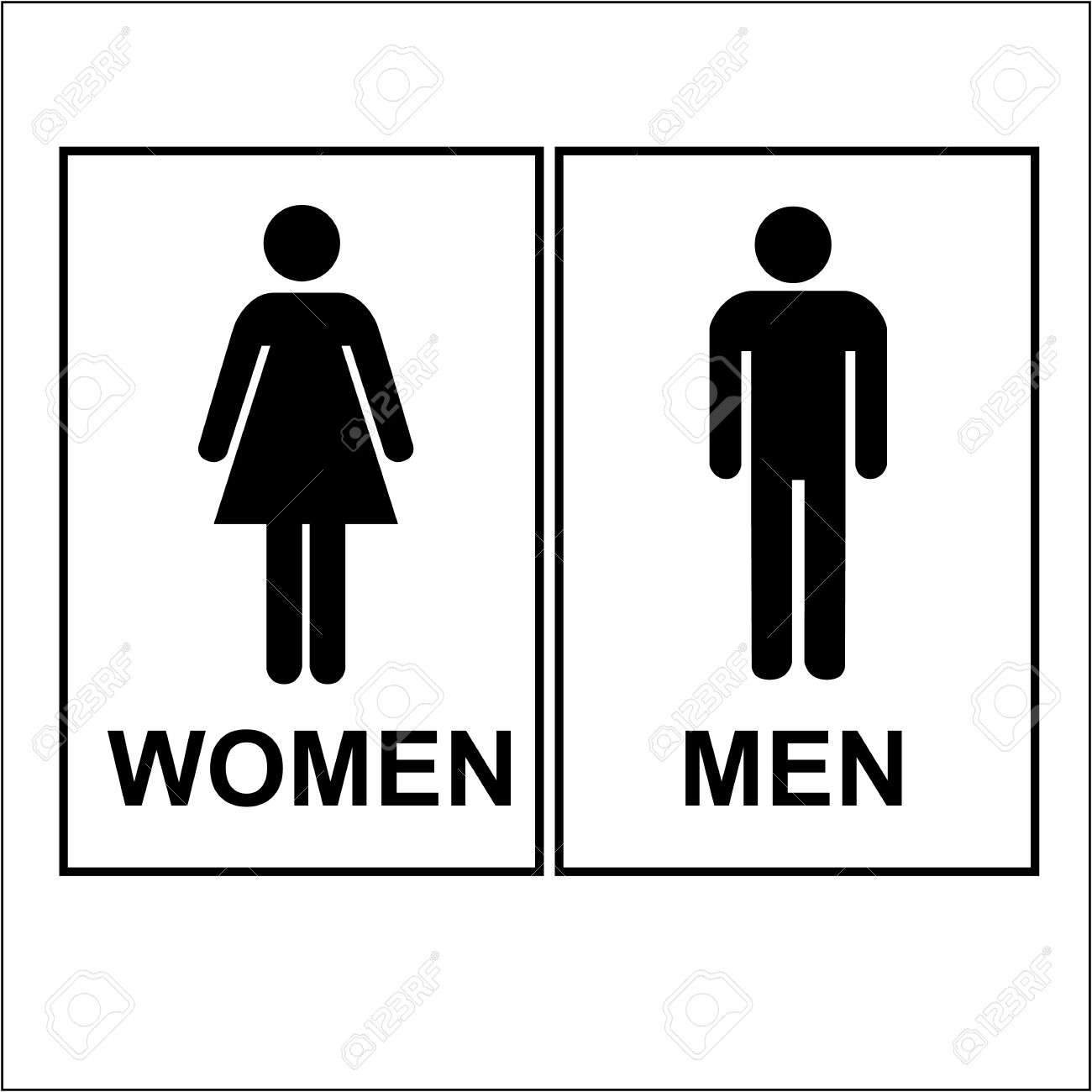 Elegant ... Toilet Women And Men Sign And Symbol Royalty Free Cliparts. View Image