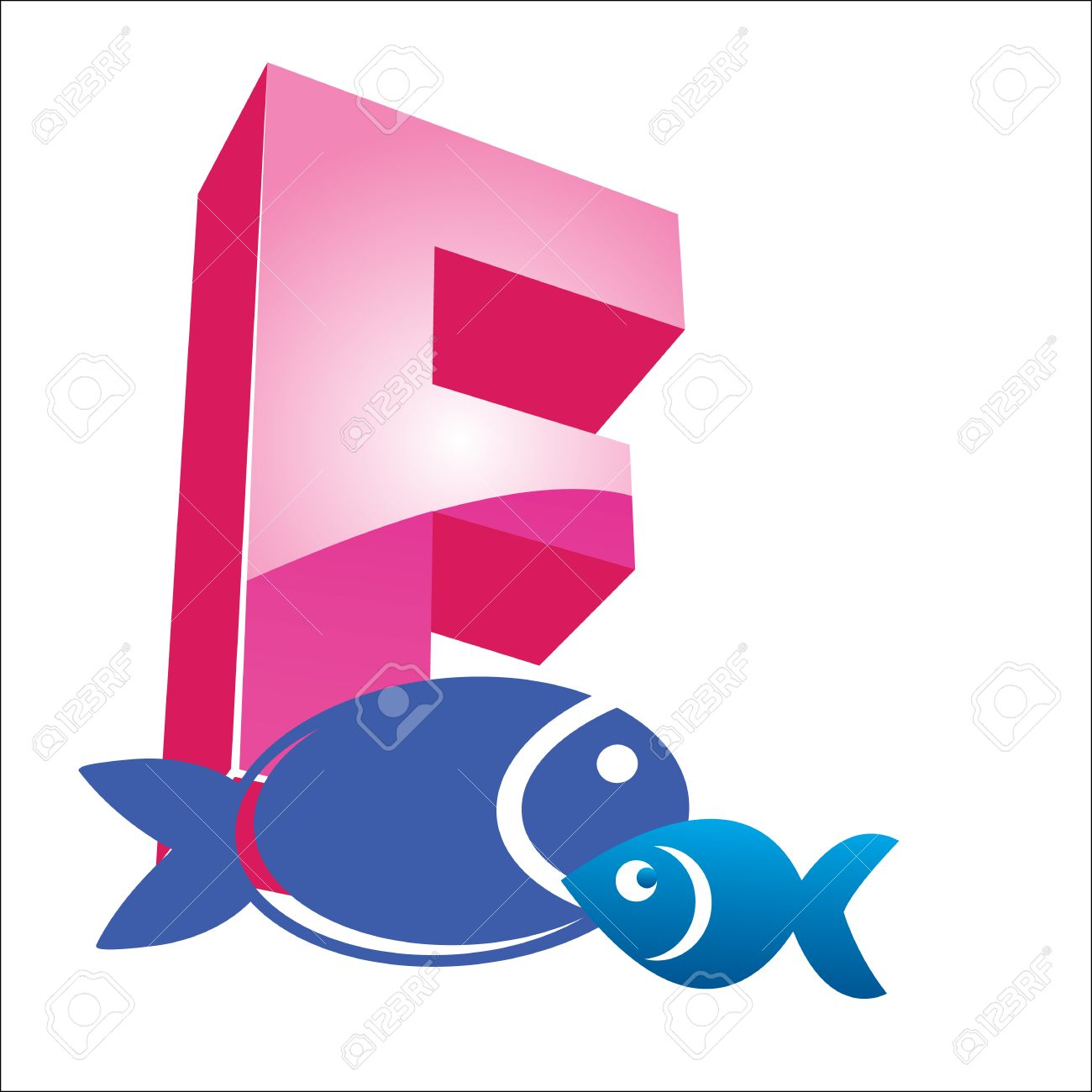 f fish alphabet vector hand drawn letters letters of the alphabet written stock