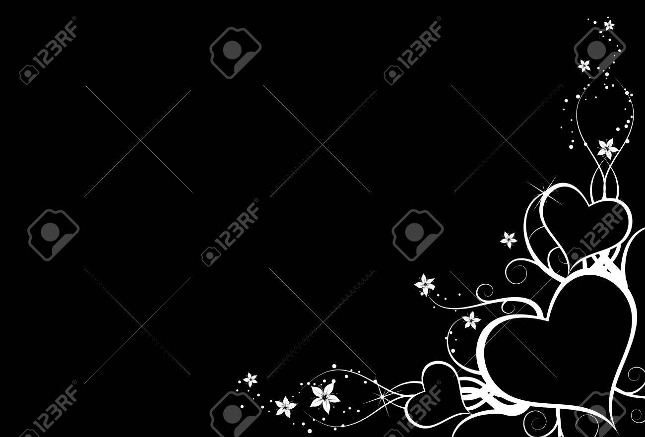 nice background with white hearts on black background stock photo rh 123rf com nice black and white background nice black desktop background