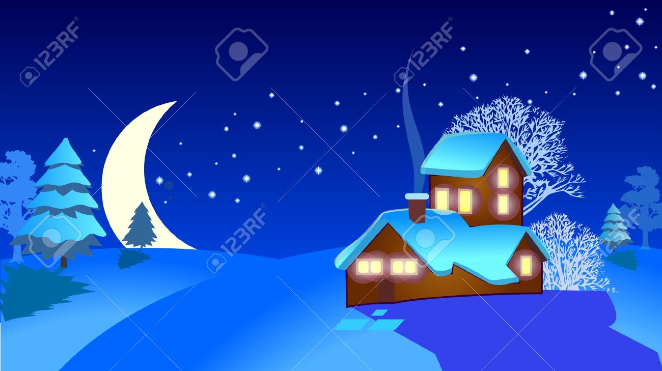 christmas village Stock Vector - 9608283