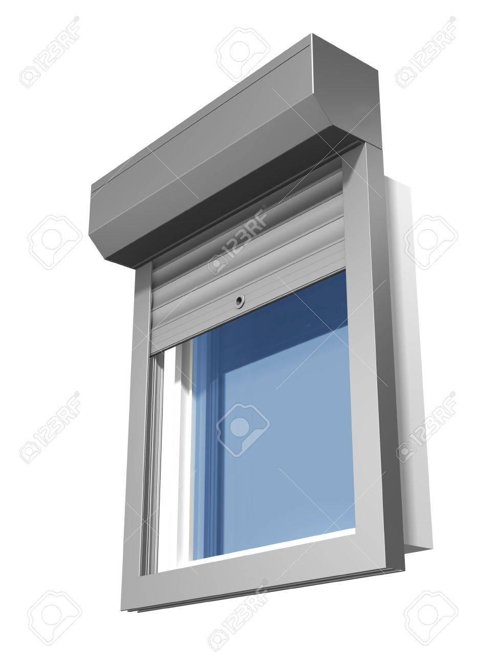 window shutter system construction Stock Photo - 11004670