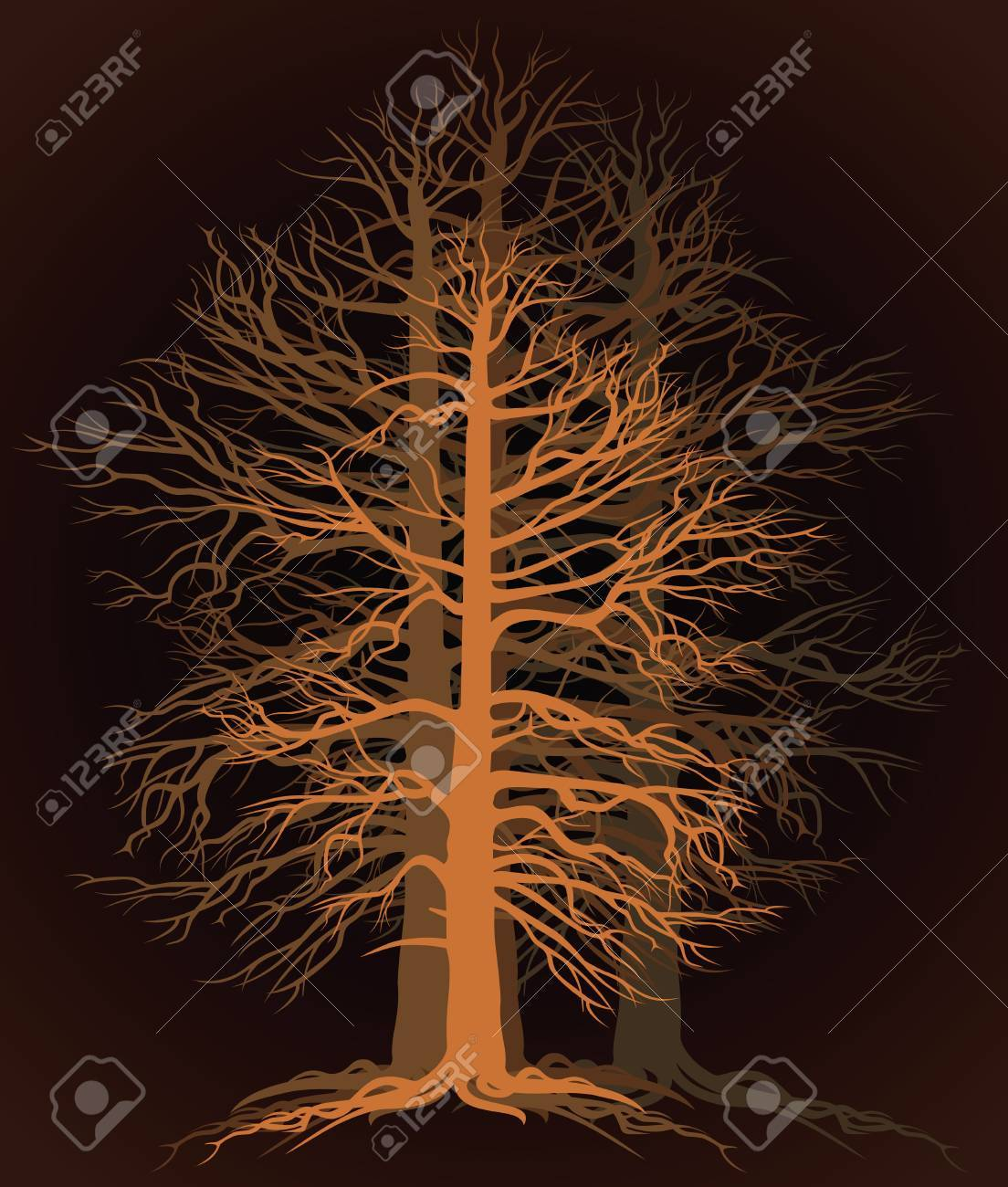 branchy tree Stock Vector - 17766212