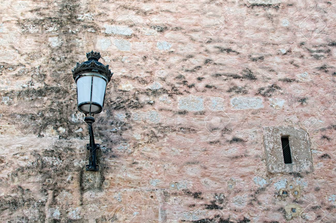 Old streetlight on blue background Stock Photo - 16060539