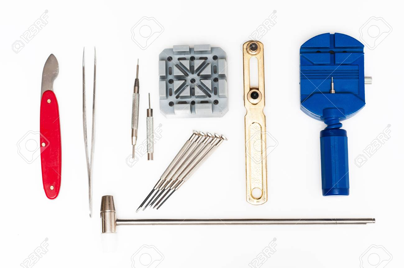 Special tools for repair of clocks Stock Photo - 19714099