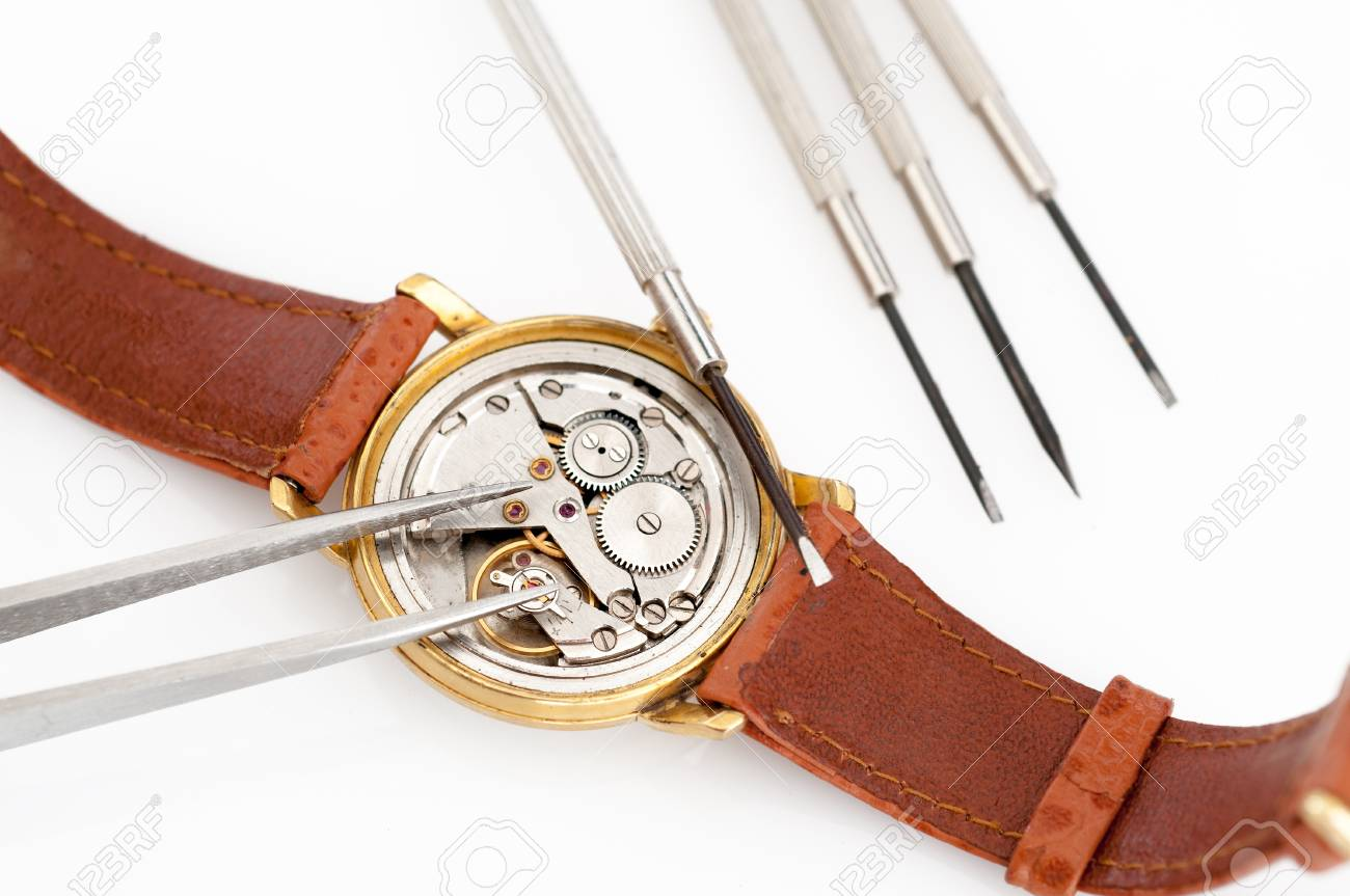 Special tools for repair of clocks Stock Photo - 19714202