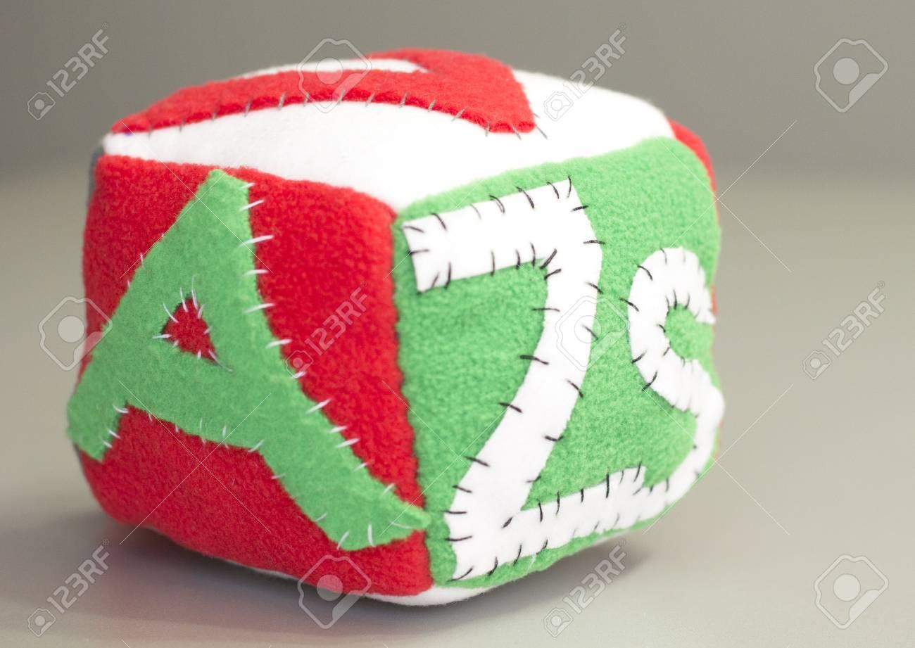 Stuffed Handmade Gift For Newborn Baby Soft Block Stock Photo