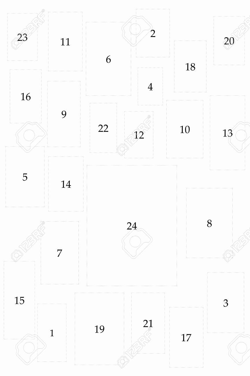 Christmas Advent Calendar blank on white. Can be used as a background for further presentation Stock Photo - 7912311