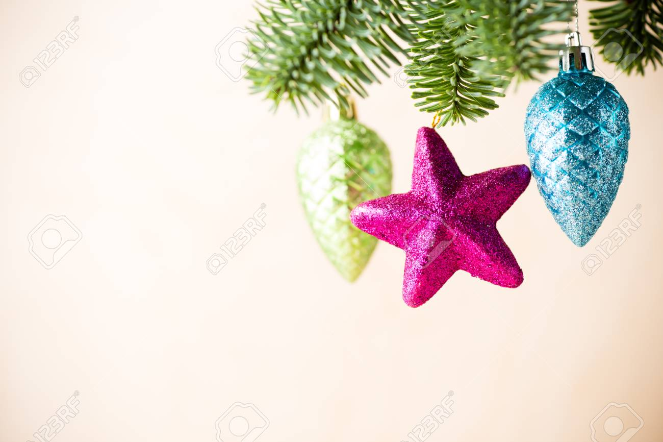 christmas backgrounds. christmas decor on the blur background. stock