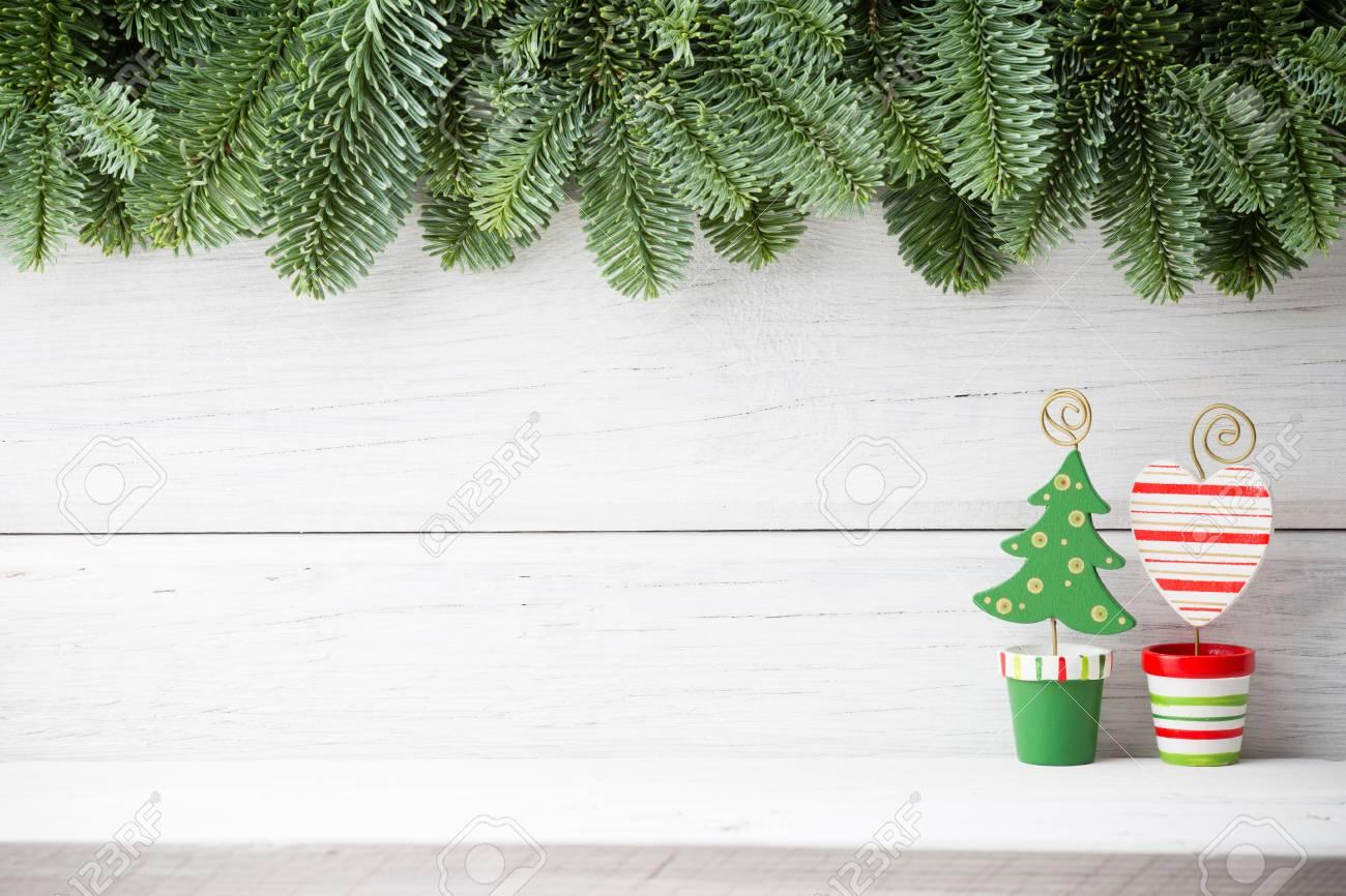 Fondos De Navidad Decoración De Navidad En El Fondo De Madera