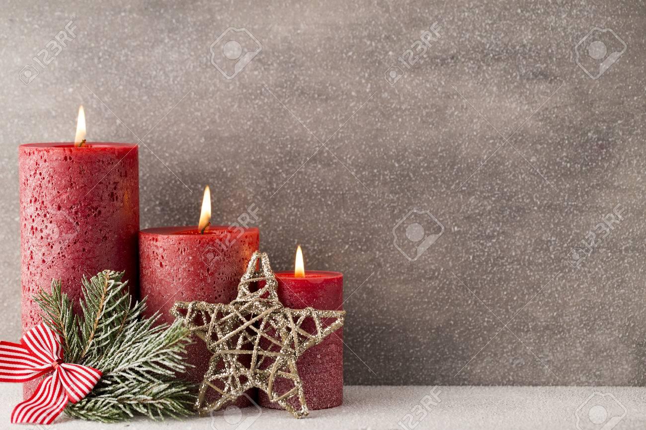 Christmas Candles.Christmas Candles And Lights Christmas Background