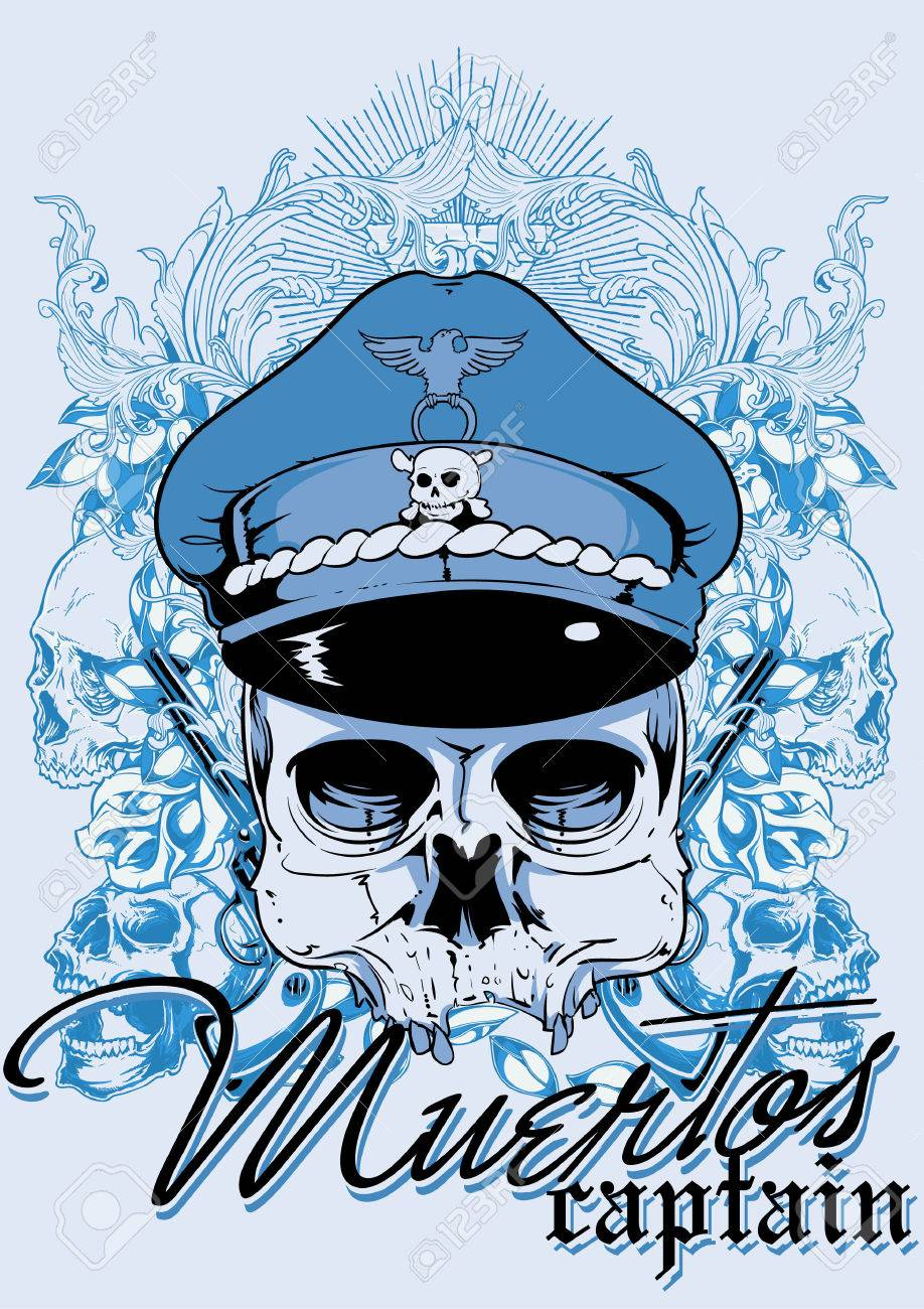 Muertos captain Stock Vector - 27808169