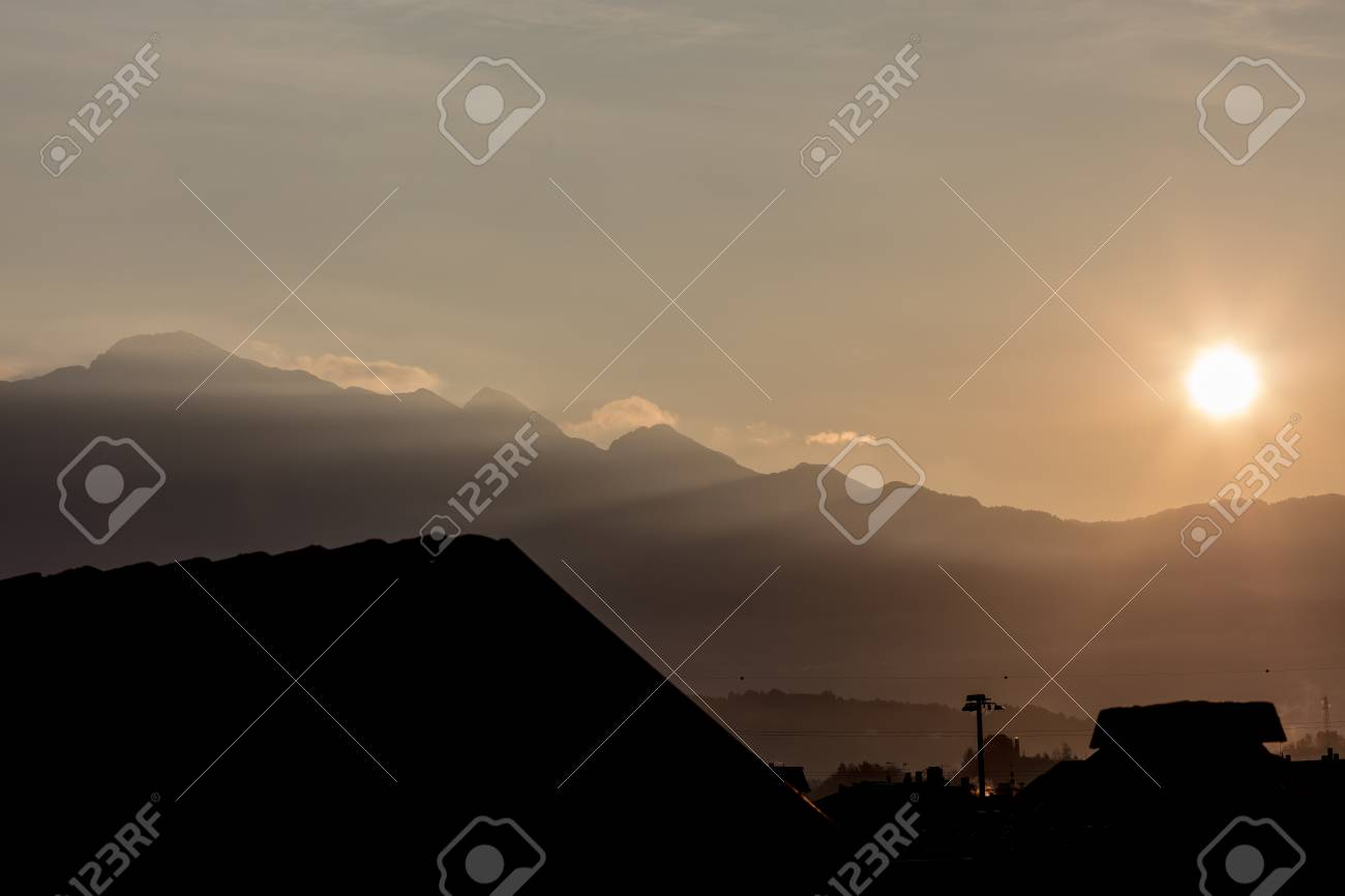 Wallpaper Or Background Of Northern Italy Sunrise In The Mountain