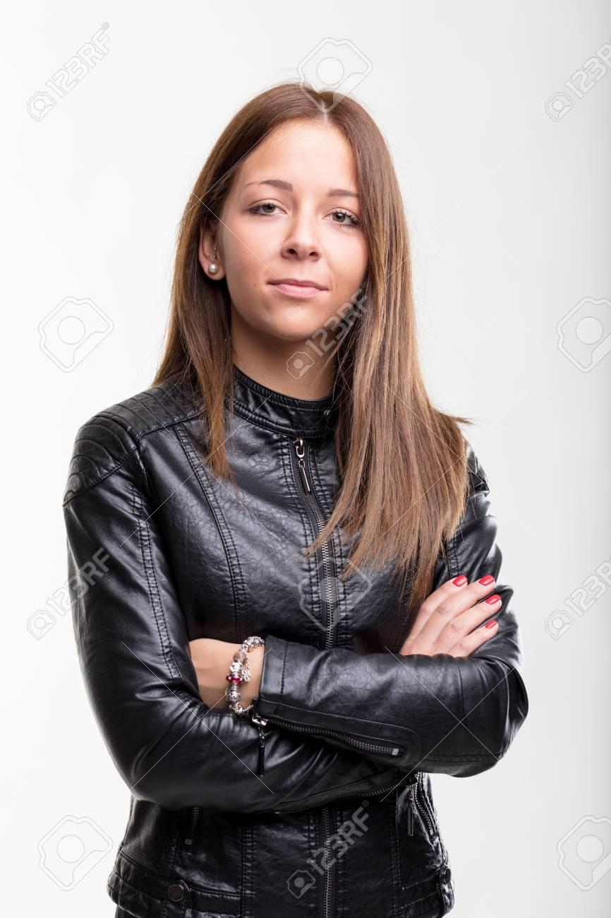 Veste en cuir noir femme h&m