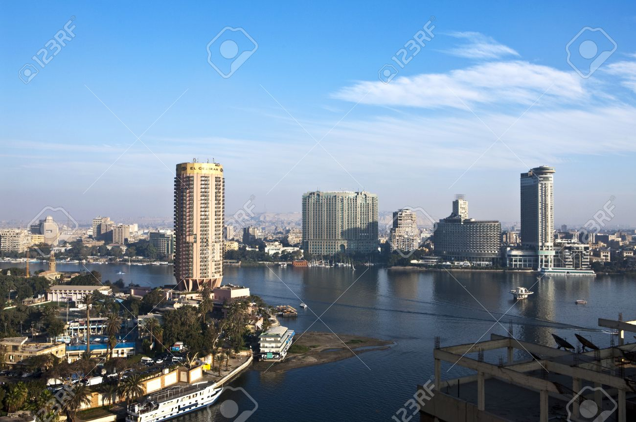 Egypt, Cairo,view of the city from the Nile river - 50796522