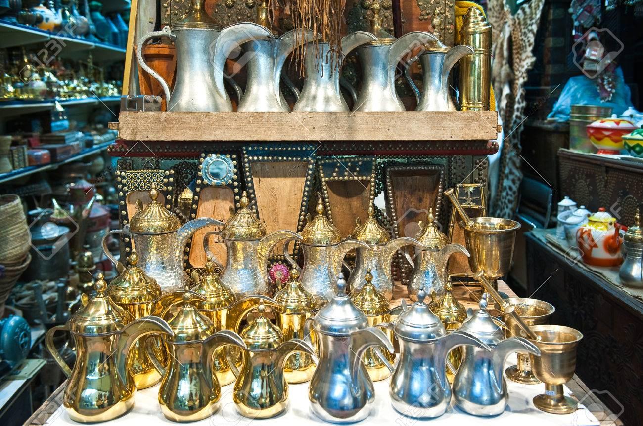 Riyadh, Saudi Arabia - November 29, 2008: Traditional crafts