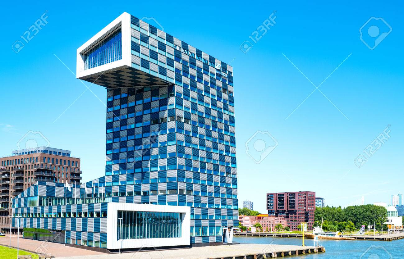 Rotterdam, The Nederlands - July 18, 2016: The modern architectures