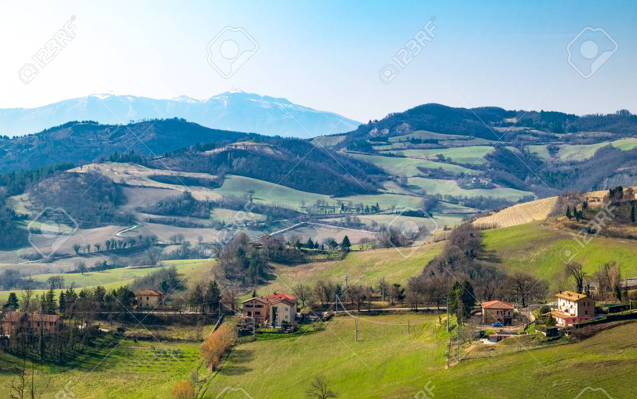 Italy Urbino Landscape Of The Valley Seen From The Country Stock Photo Picture And Royalty Free Image Image 89438669
