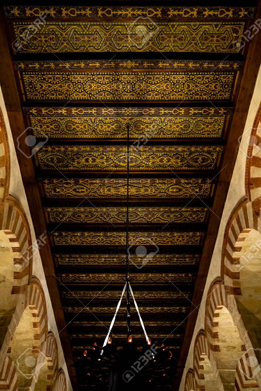 Oct 2018 Cordoba Spain Amazing Carved Wooden Roofs Inside Stock Photo Picture And Royalty Free Image Image 117321091