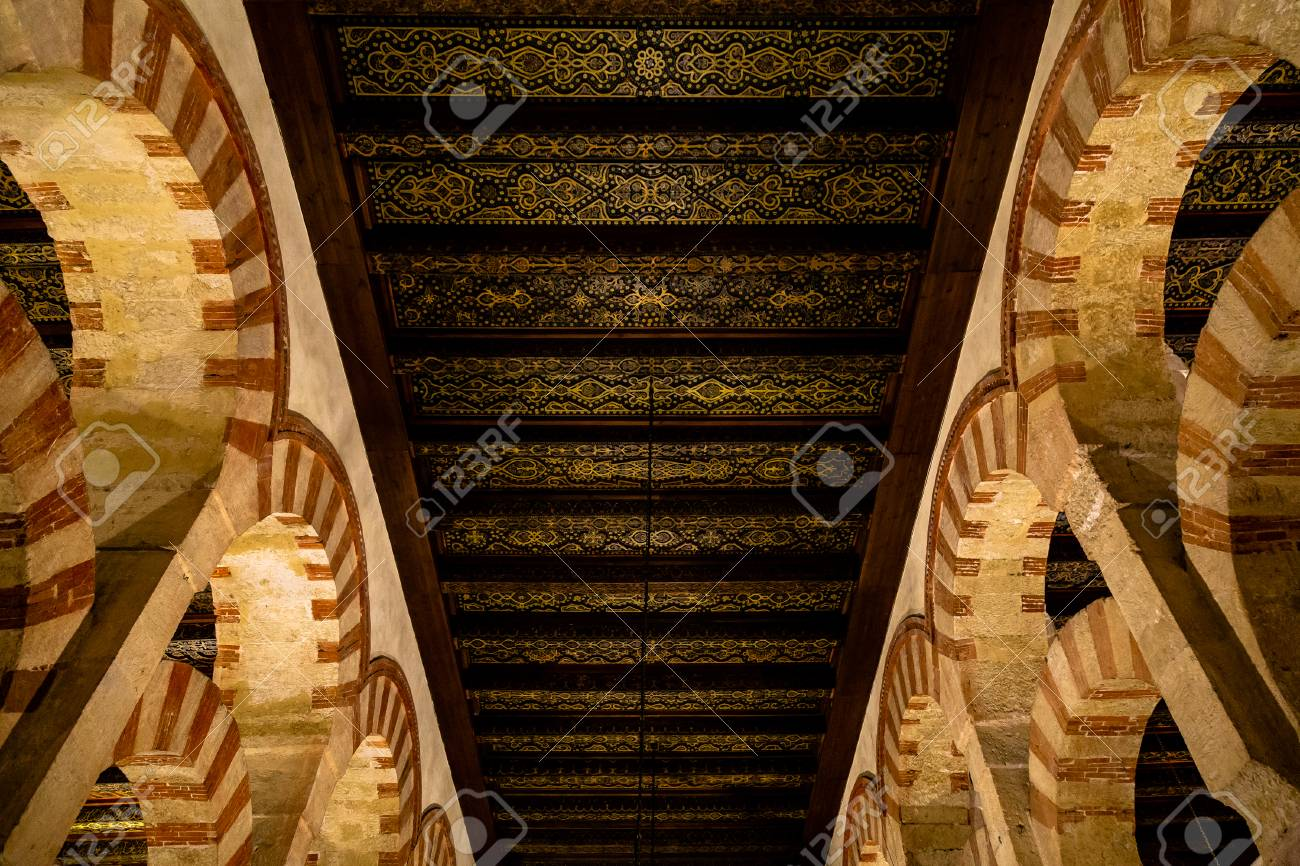 Oct 2018 Cordoba Spain Amazing Carved Wooden Roofs Inside Stock Photo Picture And Royalty Free Image Image 117321093