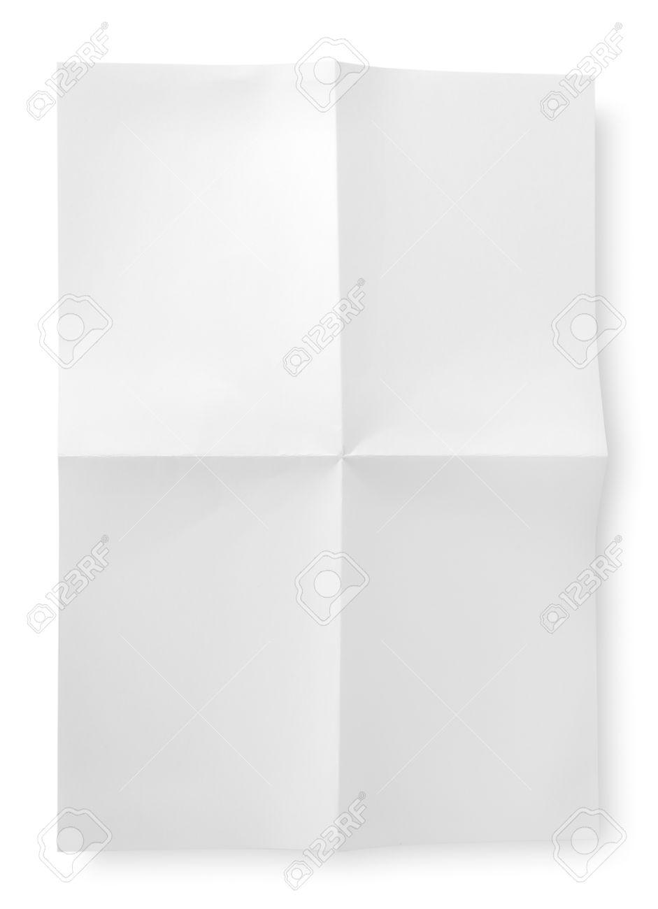 Folded blank sheet of paper Stock Photo - 16065145