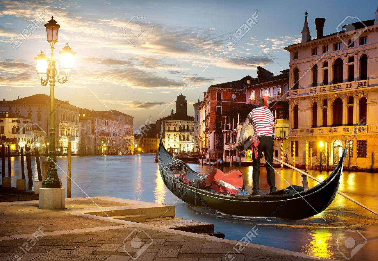 Grand Canal in sunset time, Venice, Italy - 60662282