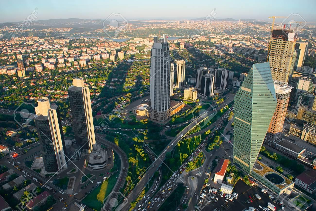 Aerial panoramic view of Istanbul - 90433284