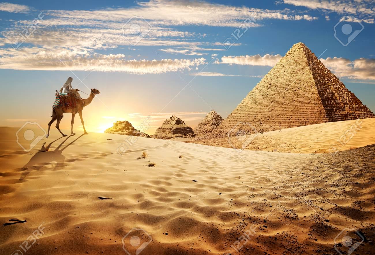 Sunset in desert - 93413066