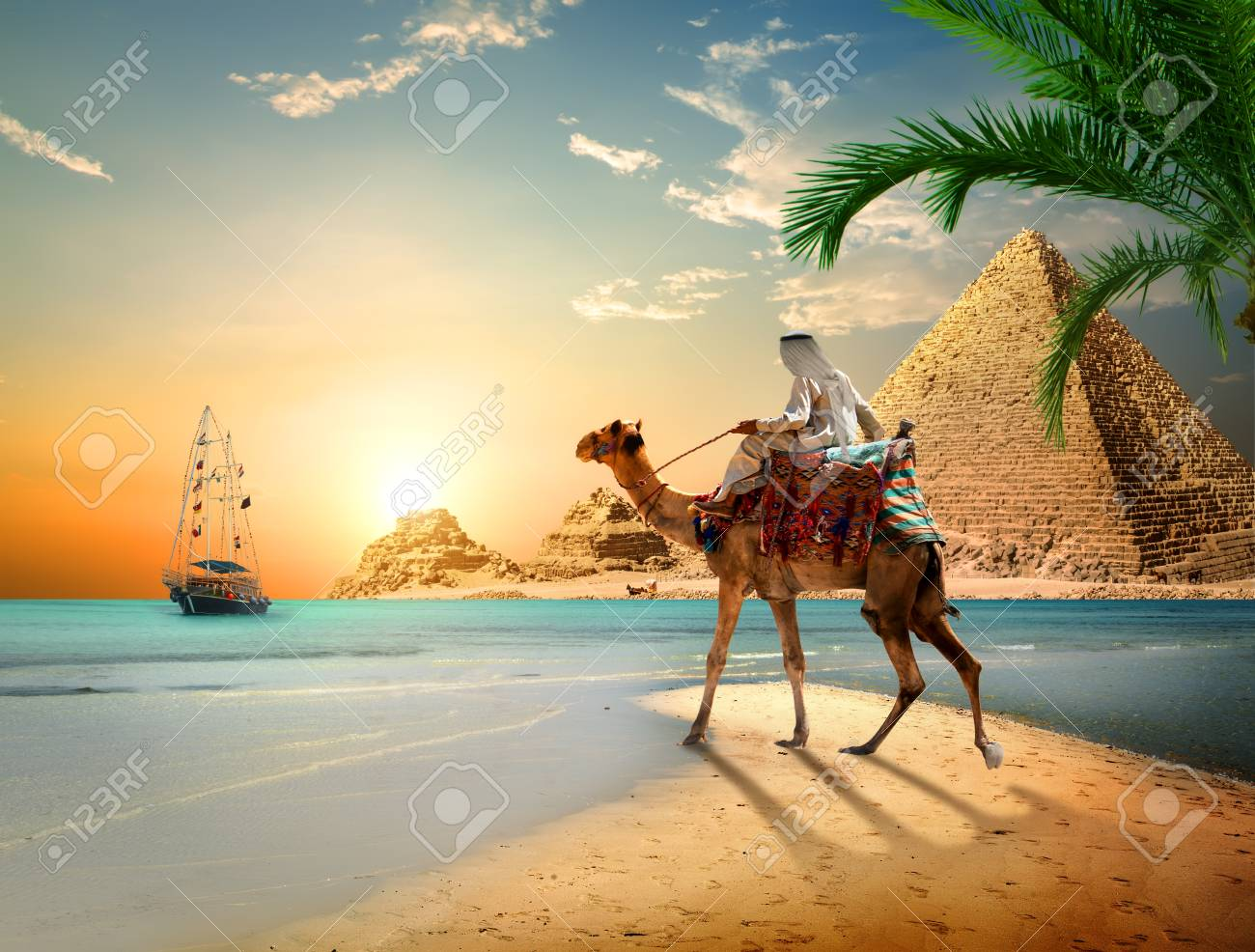 Sea and Pyramids - 110766973