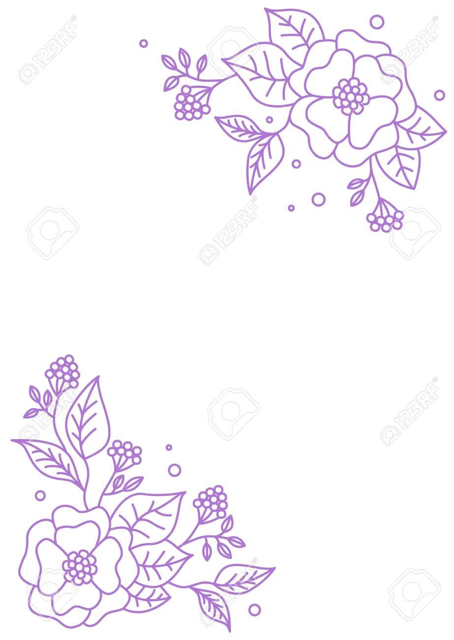 Spring Floral Background Vintage Menu Vector Floral Design Card