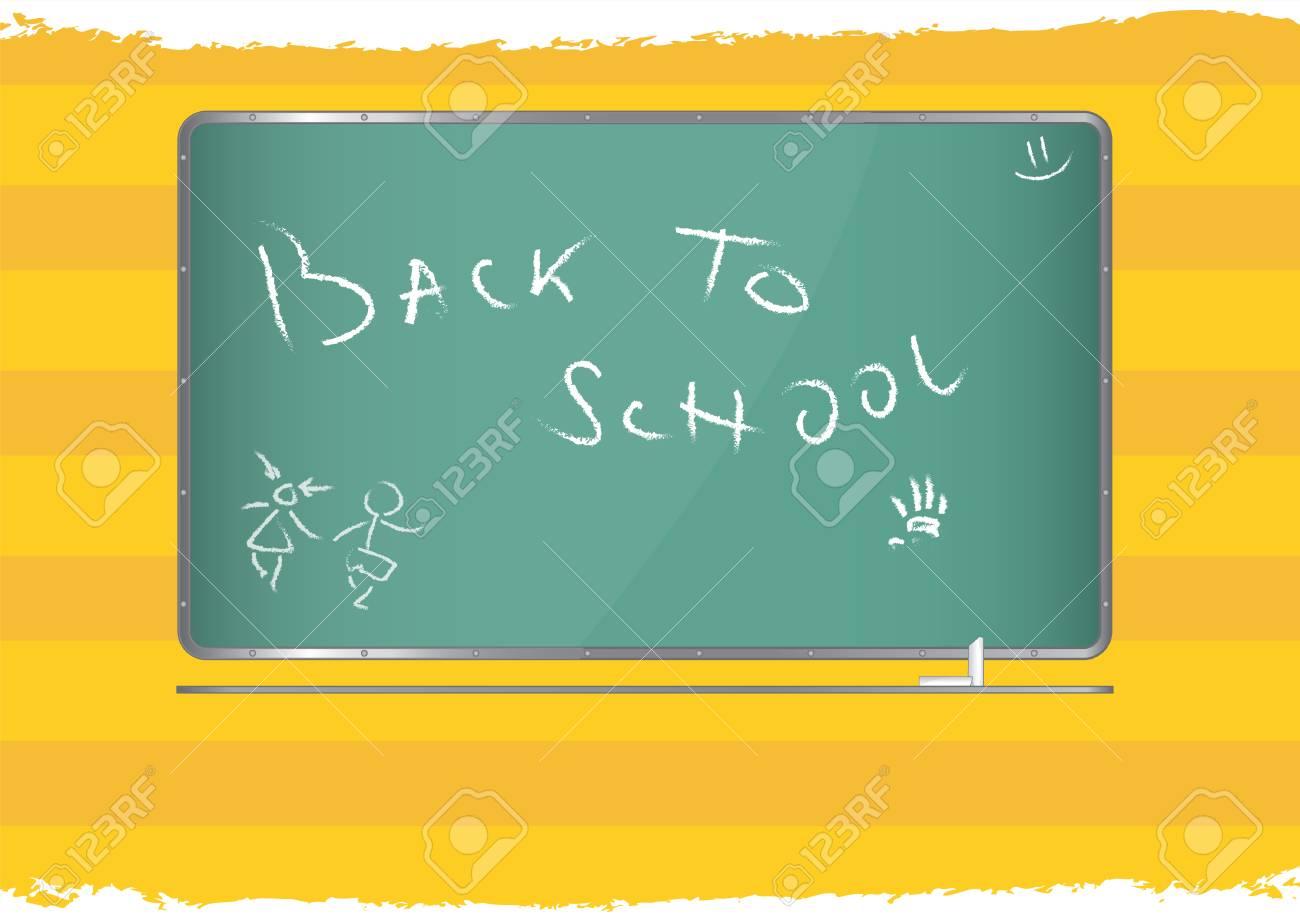 School desk (back to school) Stock Vector - 5469826
