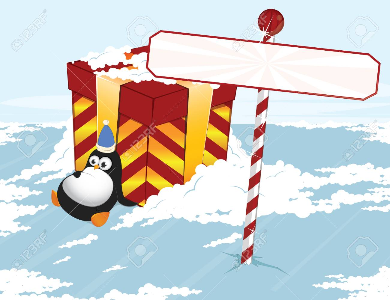 Christmas penguin Stock Vector - 5474765