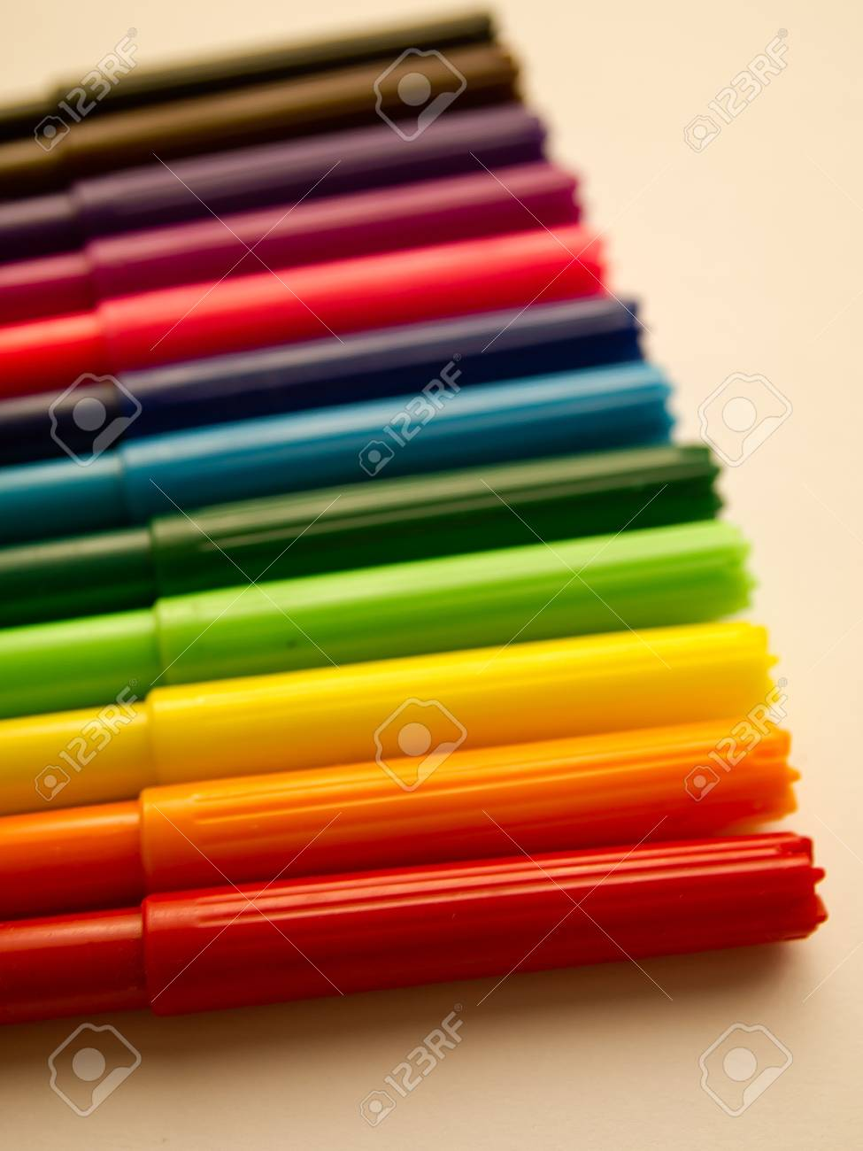 Colorful pen on white background Stock Photo - 14804487