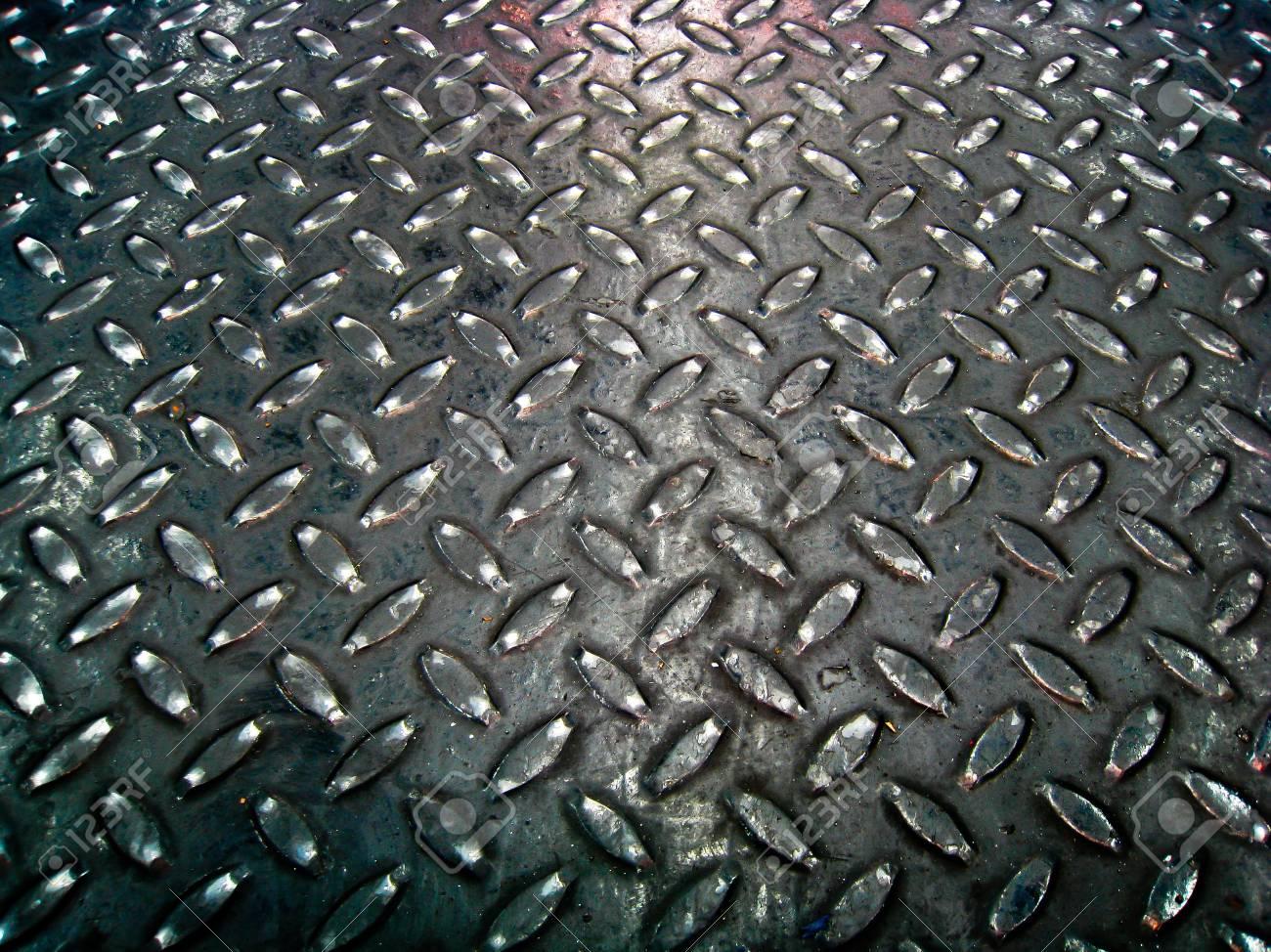 Black steel floor pattern Stock Photo - 15151590