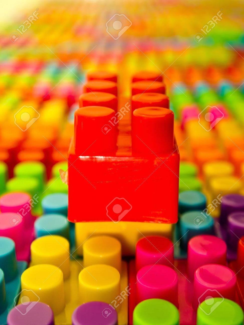 Red lego bloc en haut Banque d'images - 15503866