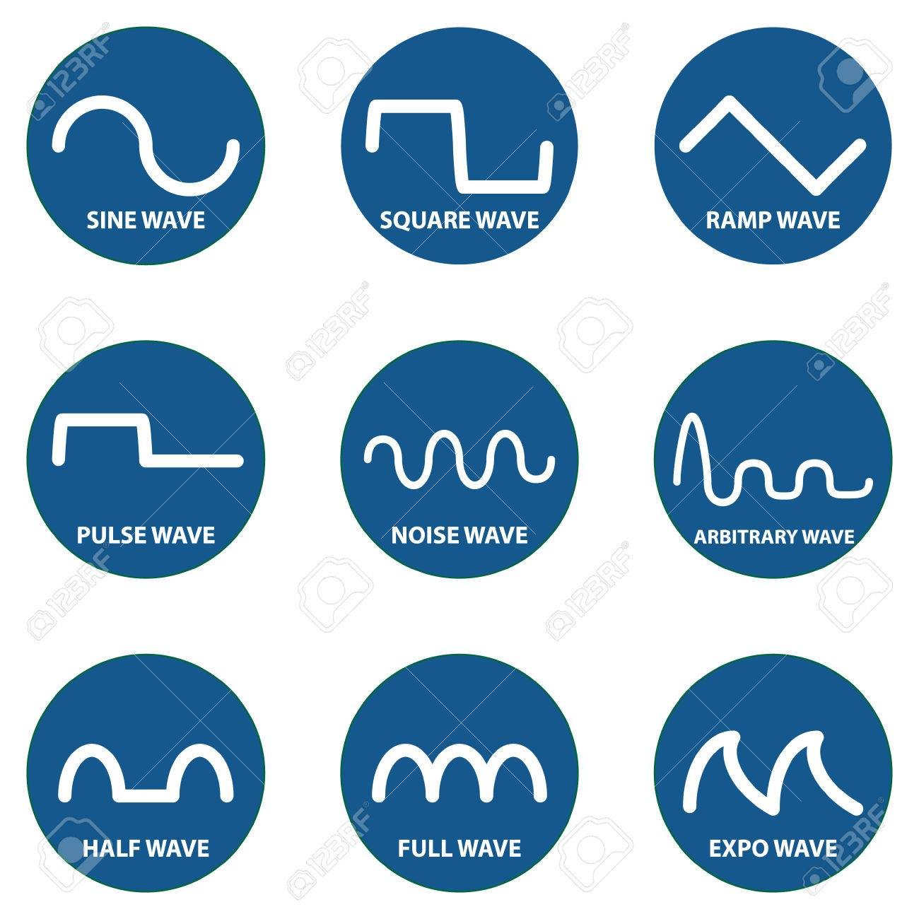 Electric Signal Symbol Wave Icon Isolate Vector Royalty Free