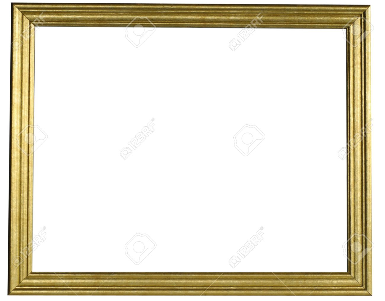 aaeb144a7166 Classic gold frame isolated on white background. Stock Photo - 7407975