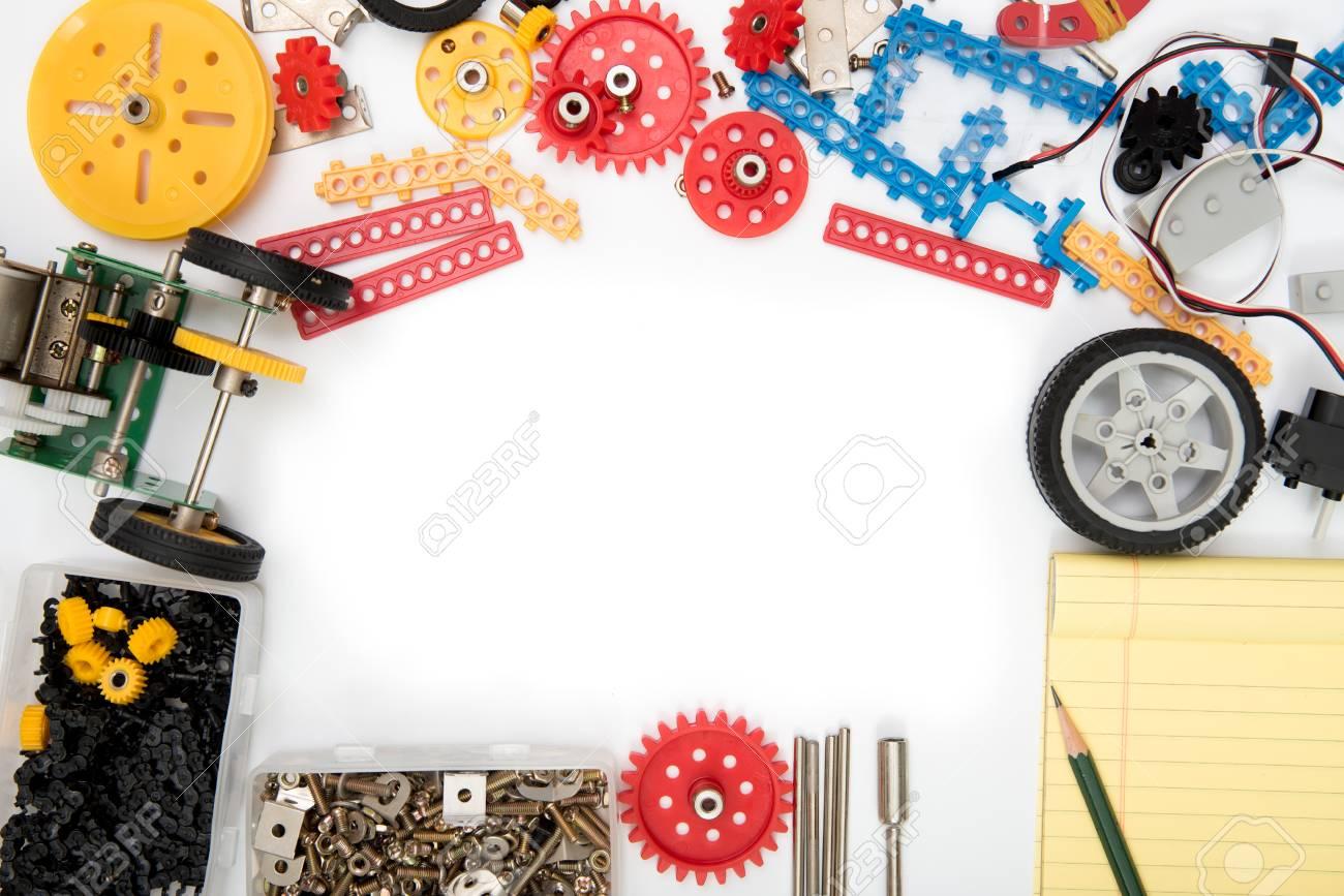 STEM or DIY science Kit set white background. - 94201890