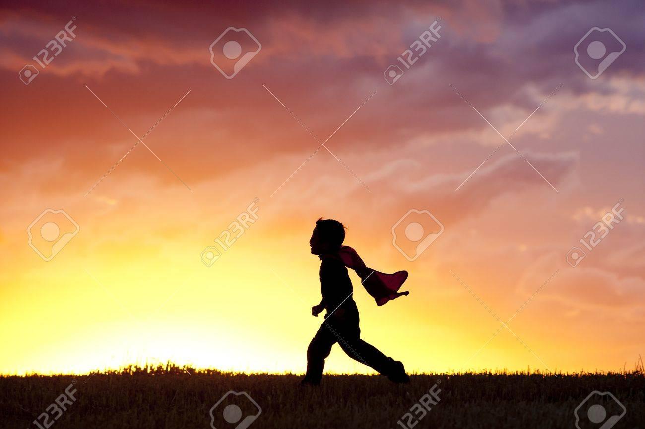 Little boy runs along. - 10741300