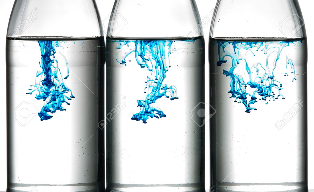 Blue Food Coloring In Water. Stock Photo, Picture And Royalty Free ...
