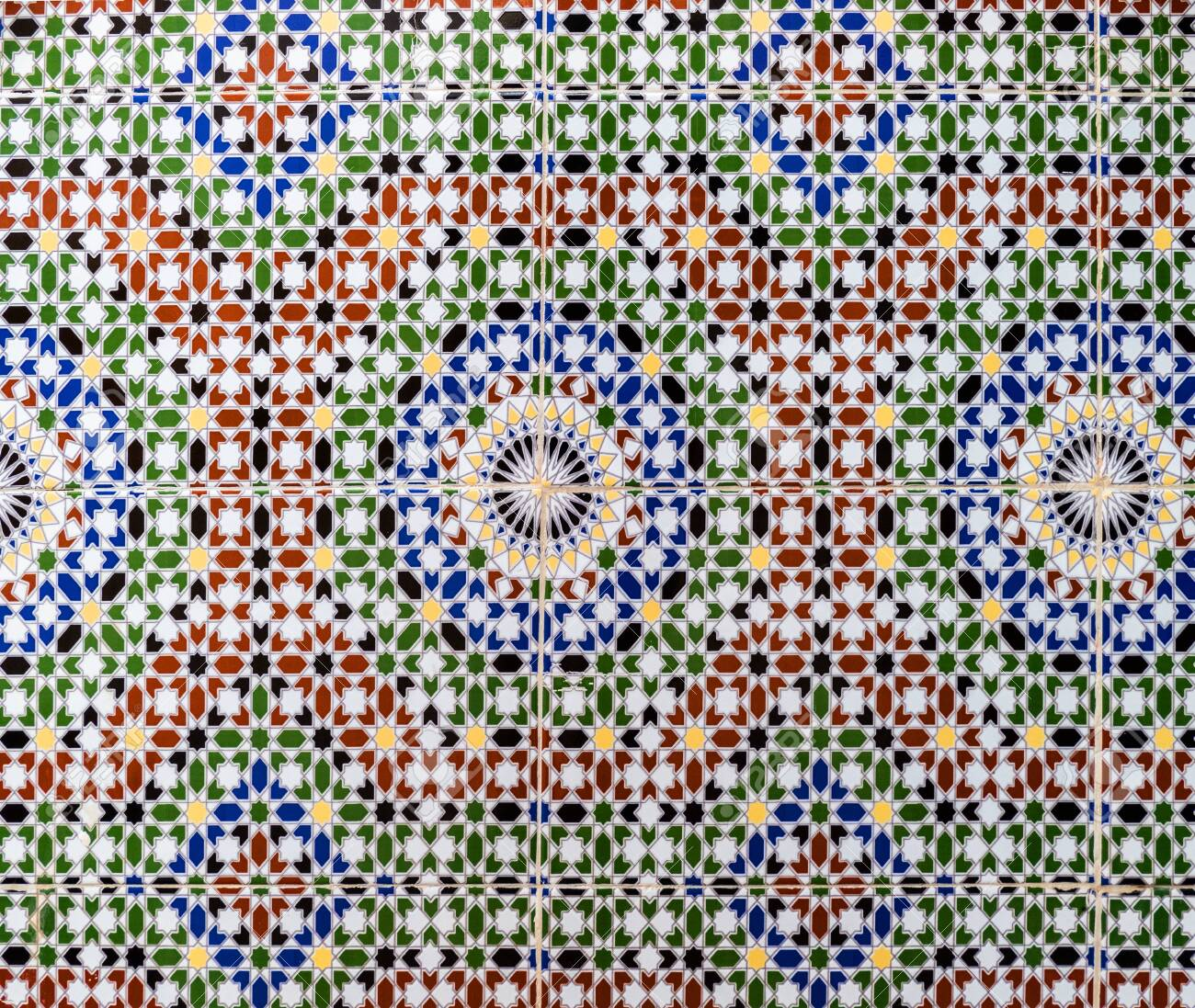 Tiles simulating tradional wall decoration in Morocco - 149486736
