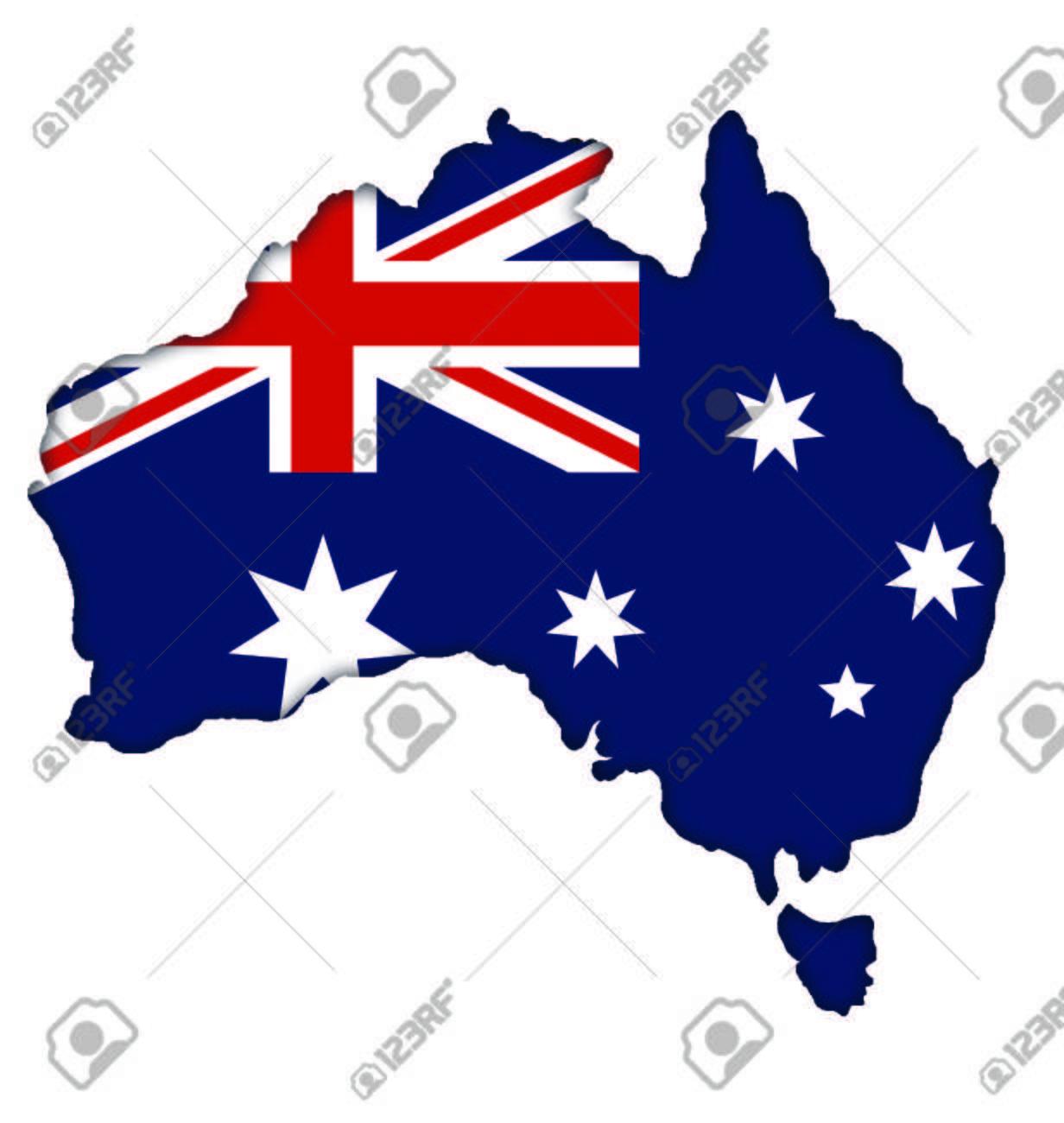 Carte Australie Drapeau.Australian Carte Drapeau Banniere Icone De L Australie