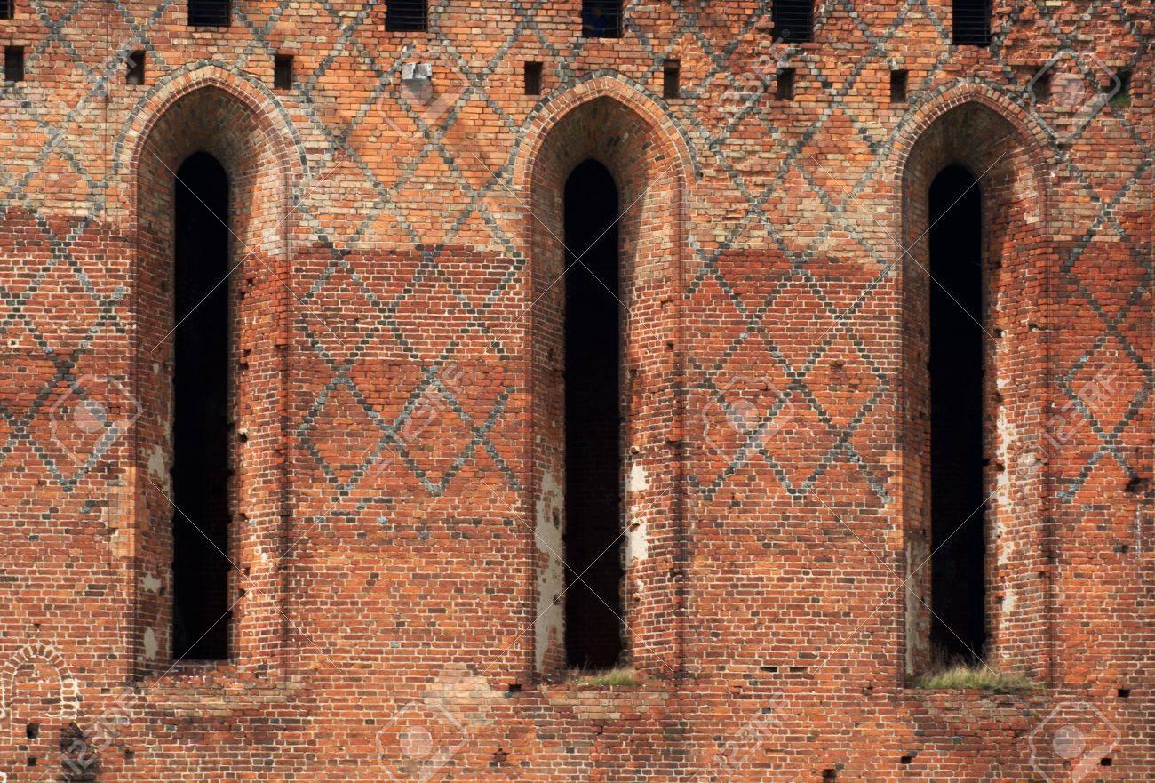 gothic windows,Teutonic Knights,Poland Stock Photo - 18284925