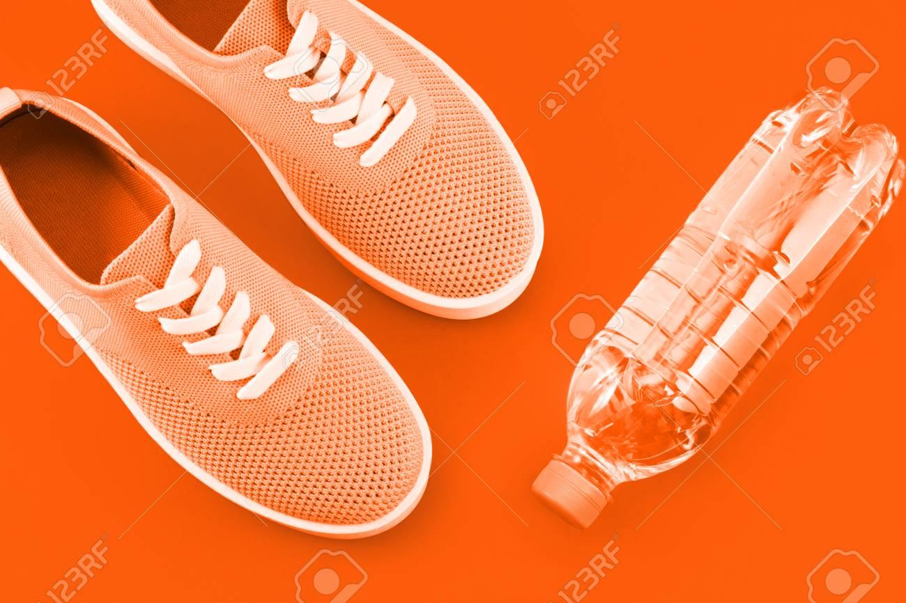 Layout On A Bright Orange Background