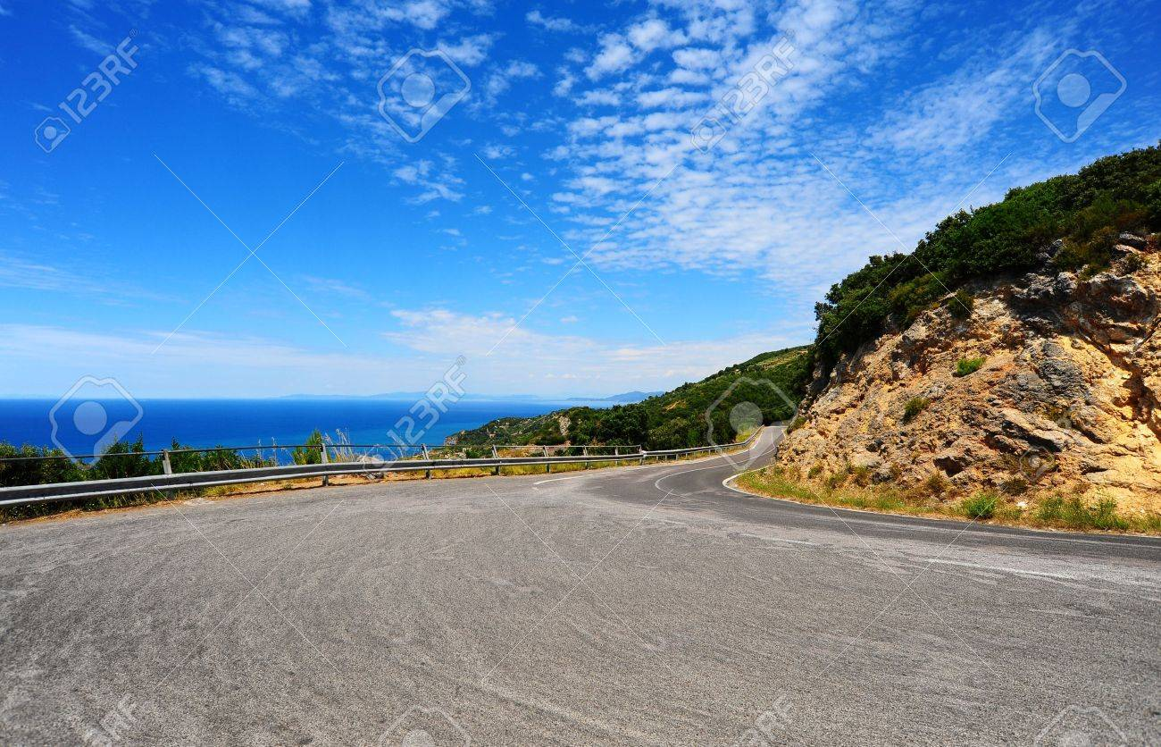 Winding Road In The Mountains Along The Coast Stock Photo - 8693914