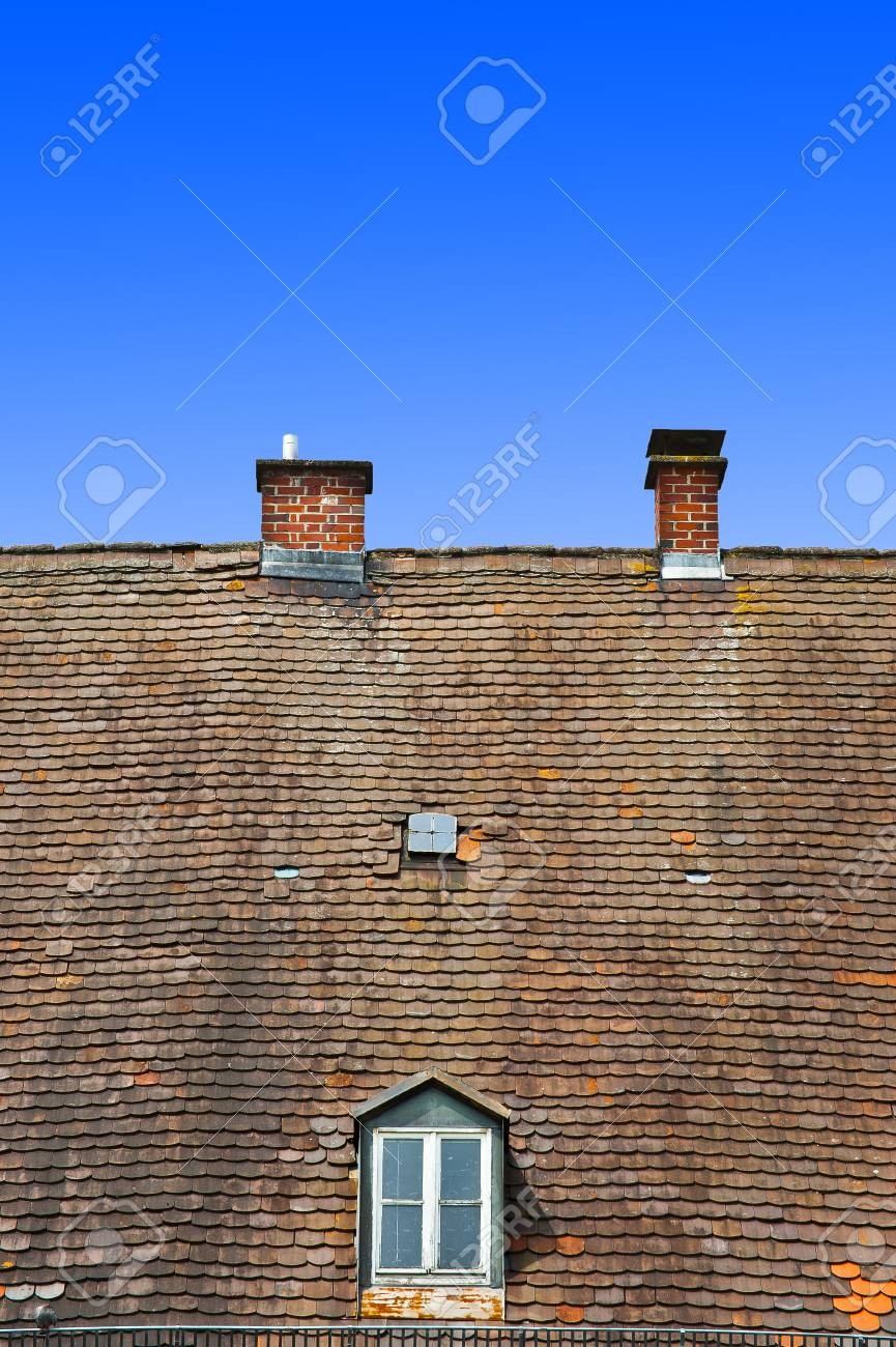 Attic with Two Windows in the South of Bavaria, Germany Stock Photo - 12396117