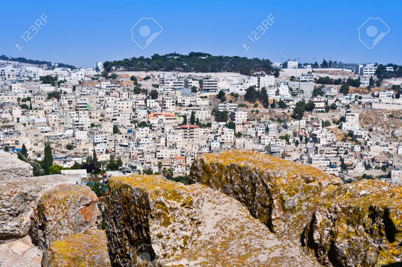 View to the East Jerusalem from the Walls of the Old City Stock Photo - 14571212