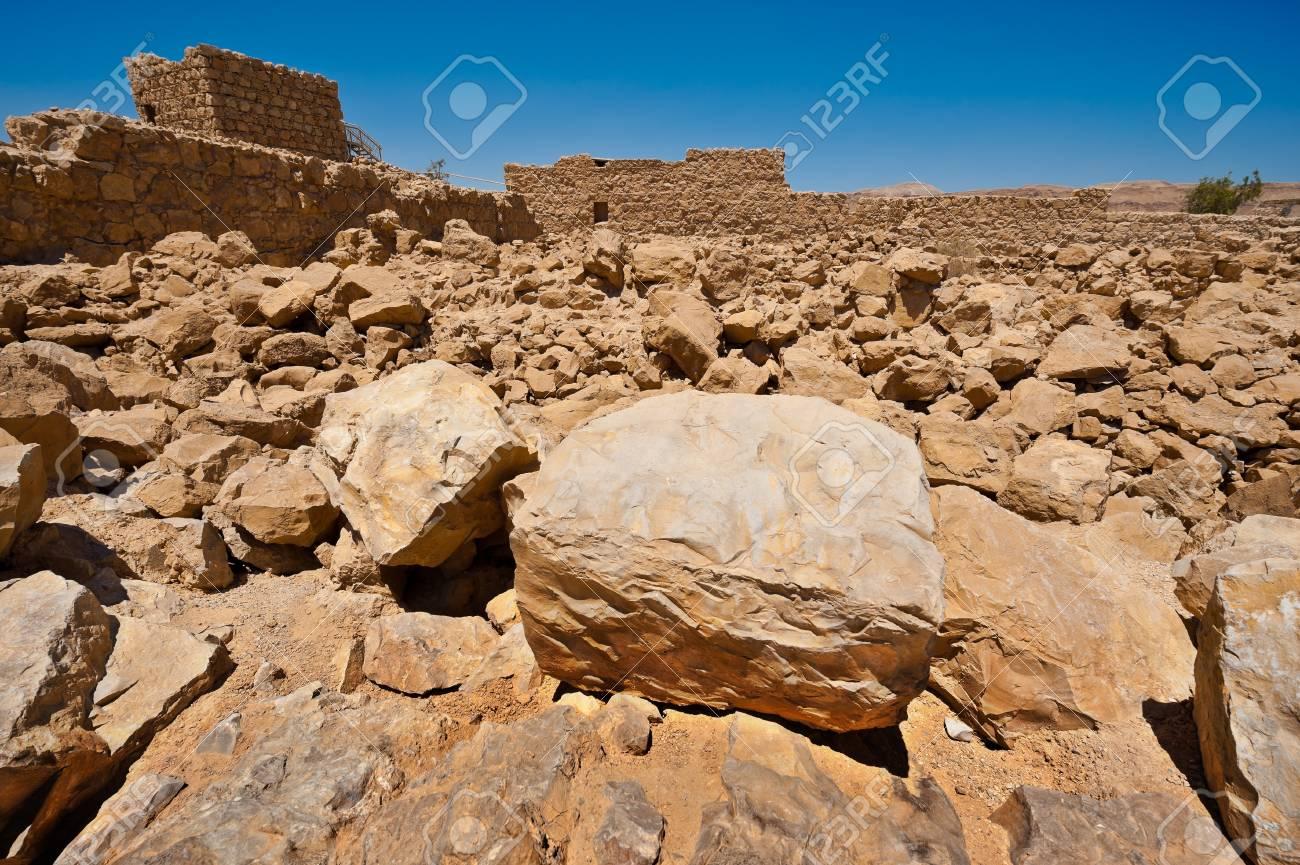 Ruins of the Fortress Masada, Israel Stock Photo - 14571202