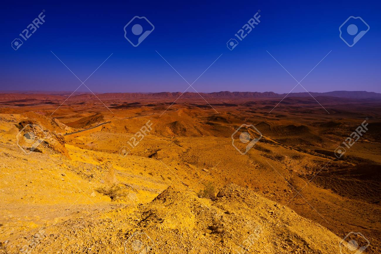 Big Stones of Grand Crater in Negev Desert, Israel Stock Photo - 15032524