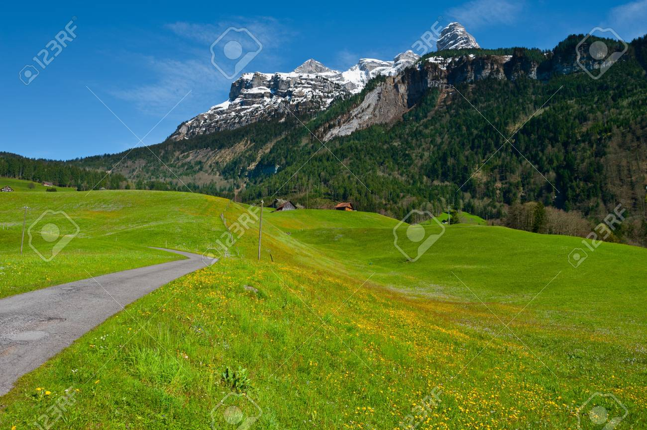The Small Village High Up in the Swiss Alps Stock Photo - 15607313