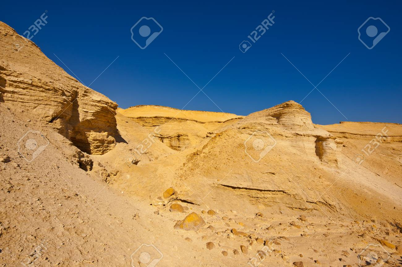 Canyon in the Judean Desert on the West Bank Stock Photo - 16729766